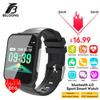 Bakeey E33 ECG Heart Rate Monitor Blood Presure Sensor Brand Reminder Sport Fitness Health Fashion Smart Watches Wristband