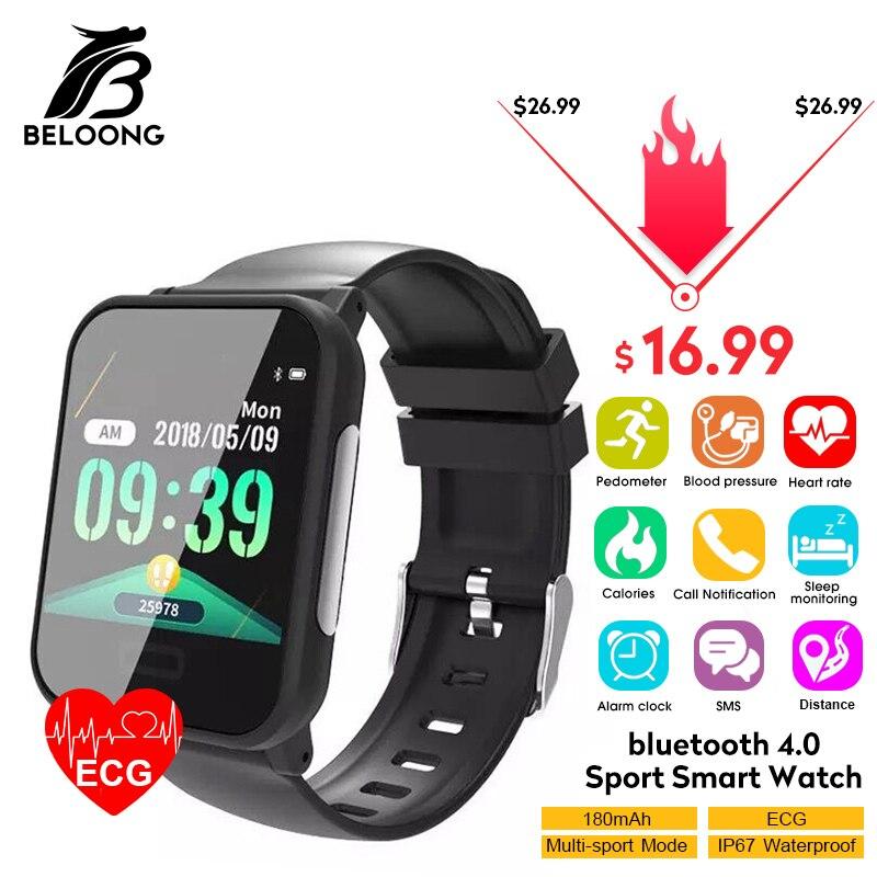 Bakeey E33 ECG Monitor De Freqüência Cardíaca Sensor de Presure do Sangue Lembrete Marca Esporte Moda Relógios Inteligentes Pulseira de Saúde de Fitness