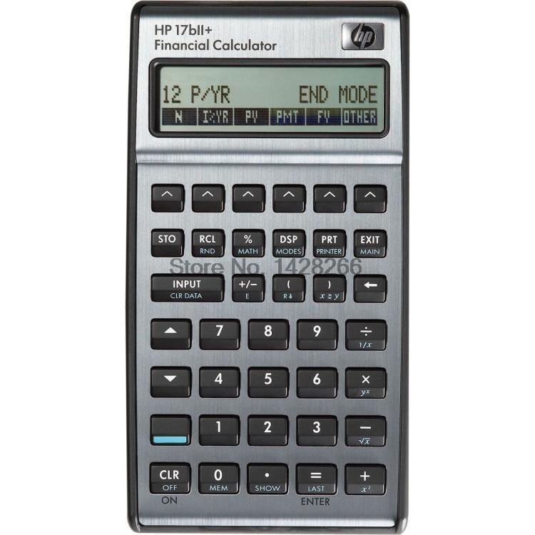2016 Hp 17BII+ Financial Calculator 22 Digits Lcd Eletronicos Calculators Hp17BII+ Afp, Cfp Special Genuine Free Shipping