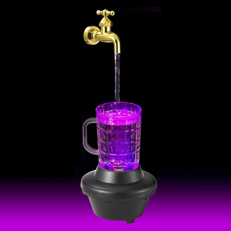 Novelty Magic Faucet Fountain color change LED light water faucet fountain Night Light Magic ...