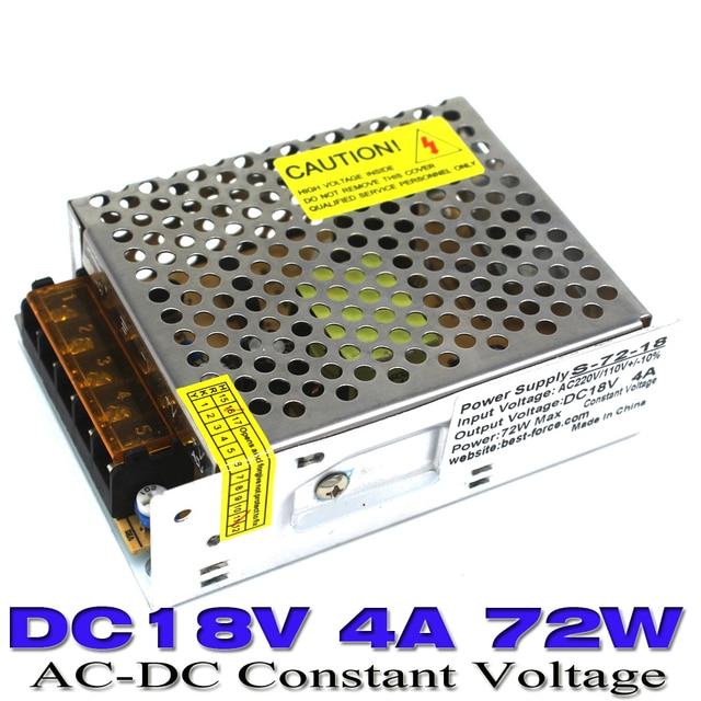 switching power supply 18V 4a 72w single output AC DC 110v 220v LED ...