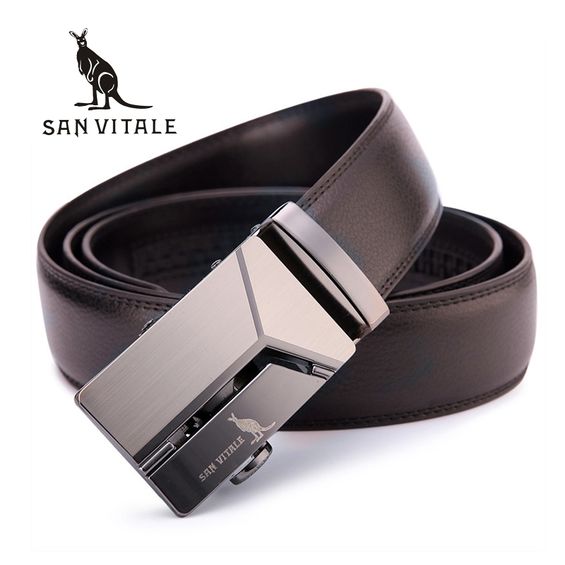 De los hombres correa de cuero genuino de alta calidad nuevo diseño hombre cinturones de lujo Correa hombre cintura de moda Vintage hebilla de cinturón vaqueros
