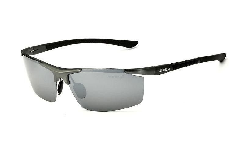 Поляризованные солнцезащитные очки из алюминиевого сплава. Мужские линзы. Зеркальные солнцезащитные очки для рыбалки, спорта и активного отдыха на свежем воздухе. Очки 6588 - Цвет линз: silver Reflective