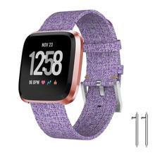 9504808ff Correa de muñeca pulsera de tela tejida banda de repuesto para Fitbit Versa  Lite reloj deportivo