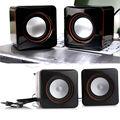 VENDEDOR QUENTE!! usb dc 5 v 3.5mm interface de áudio estéreo mini speaker portátil pc preto subwoofer para notebook desktop laptop tablet