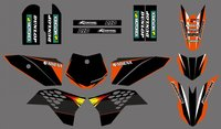 0253 New style Team DECALS STICKERS Graphics Kits for SX50 50CC 50 50SX For KTM 50 2009 2010 2011 2012 2013