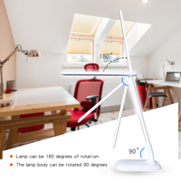 FANTLUX Touch LED Desk Light Adjustable Table Lamp Eye Protection Foldable Book Reading Light Dimmable Office