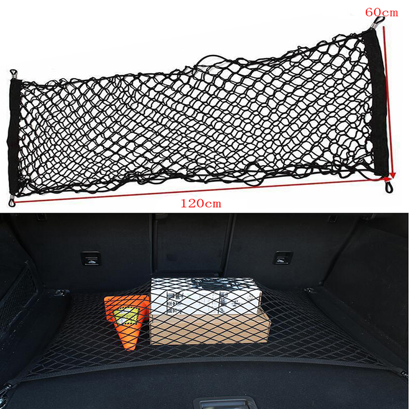 Nylon Stretch Luggage Net Baggage Nets Bag Rack Network Boot Fixed Network 120*60 CM Car Trunk Luggage Stacking Shelf Net|Stowing Tidying| |  - title=