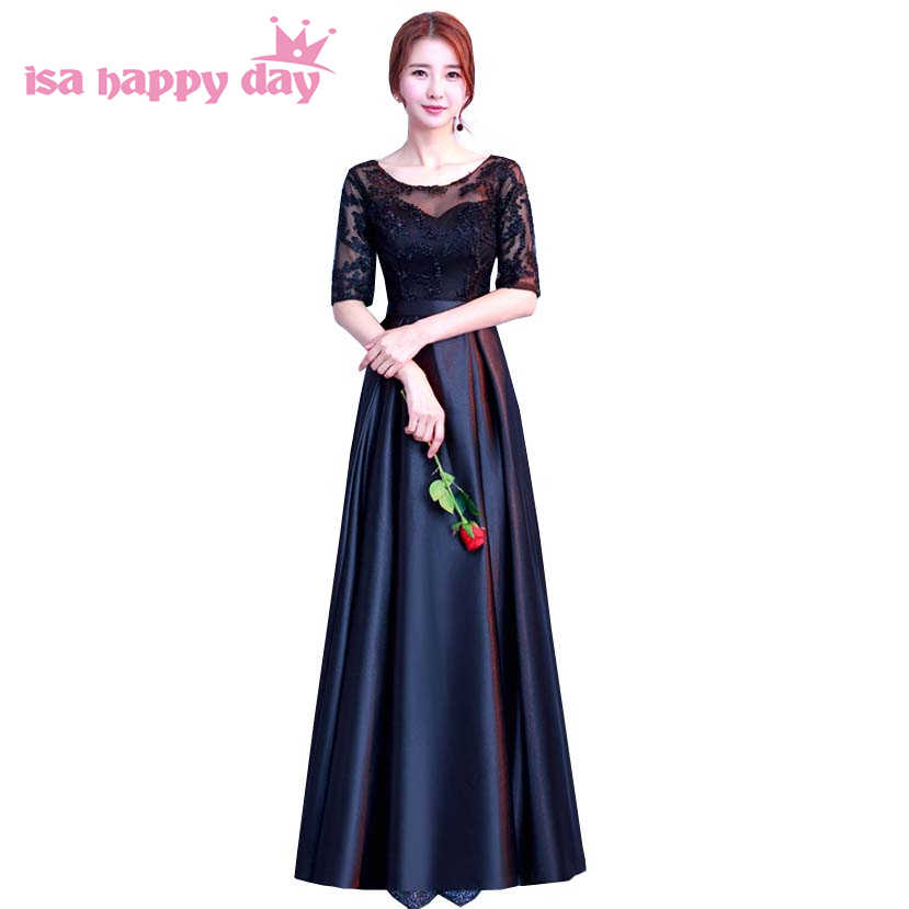 new arrival 2019 black long prom dress with sleeves modest formal gowns  brides special occassion dresses 7abf61d6d64e