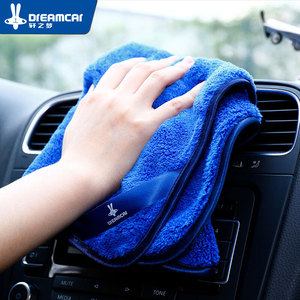 Image 4 - Serviettes en microfibre pour voiture, 1 pièce, chiffon épais en peluche pour nettoyage et séchage