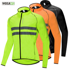 WOSAWE mtb Cycling Jacket High Visibility Reflective Safety Vest Road Cycling Windbreaker Waterproof Bicycle Clothing