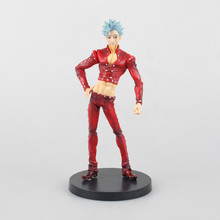 18cm Japanese anime  The Seven Deadly Sins Nanatsu no Taizai Fox's Sin of Greed Ban PVC Action Figure collection model Doll Toy