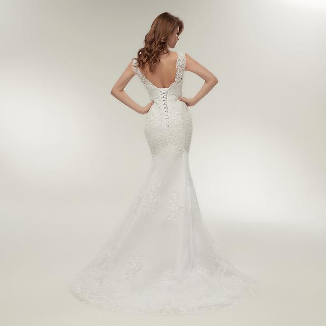 Fansmile Lace Mermaid Wedding Dresses Plus Size Bridal Alibaba Wedding Gowns FSM-144M