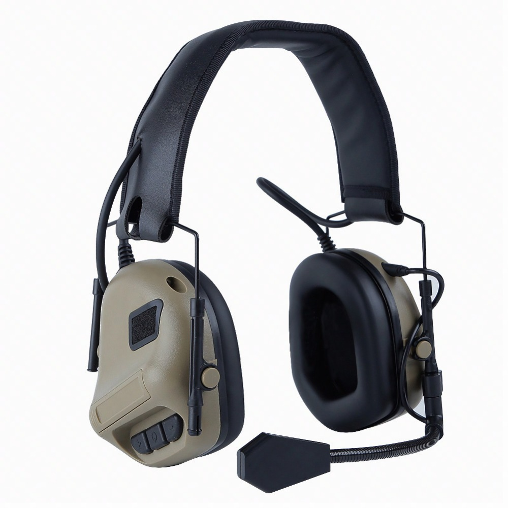 Tactical Headset Military Headphone Hunting CS Airsoft Comtac Shooting Headset Ear Protection Earphones