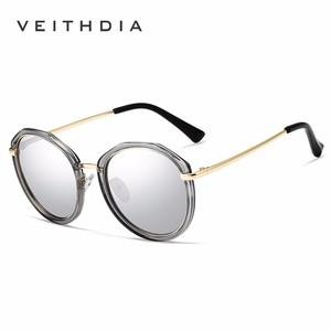 Image 5 - VEITHDIA Acetate Frame Womens Sun glasses Polarized Mirror Lens Luxury Ladies Designer Sunglasses Eyewear For Women oculos 3050