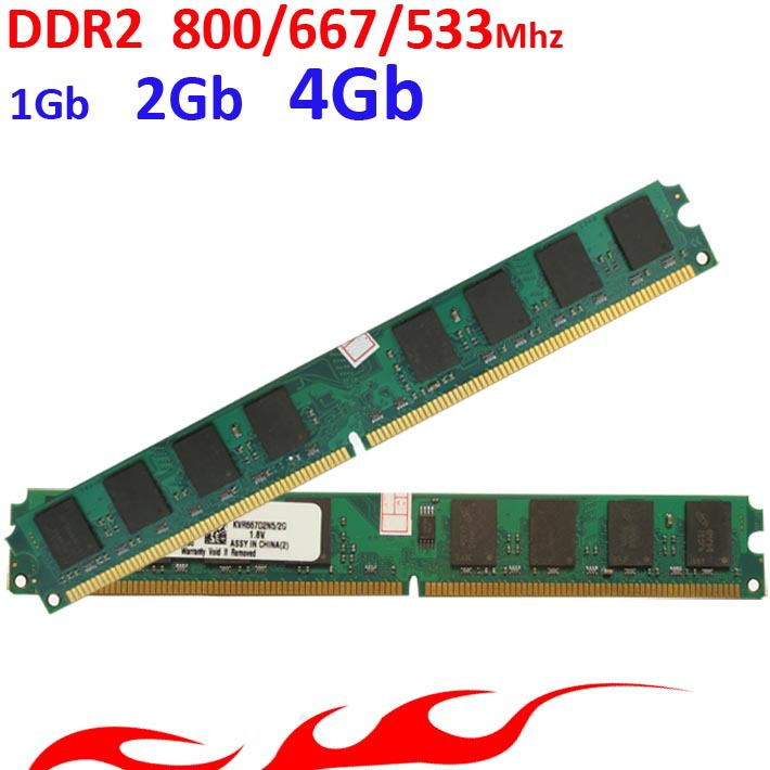 memoria ram ddr2 For Intel / for AMD  DDR2 800 667 533 Mhz -  1Gb 2Gb 4Gb / ddr2 RAM  -lifetime warranty- 800Mhz 667Mhz 533Mhz пинетки митенки blue penguin puku