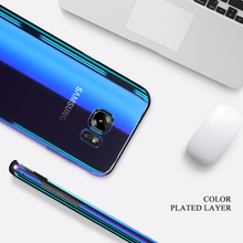 Cool Blue Ray Plastic Case for Samsung Galaxy S7 S8 S8 Plus S7 S6 Edge Case A5 A3 2017 Protective Cover for Galaxy S8