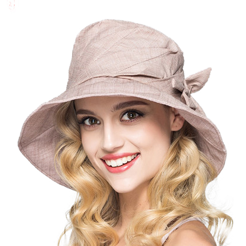 95f296c8567 FS Women Fashion Wide Brim Hats Foldable Floral Bucket Hat Summer Floppy Sun  Cap Beach Caps Sunhat Girls Summer Hats Outdoor-in Sun Hats from Apparel ...
