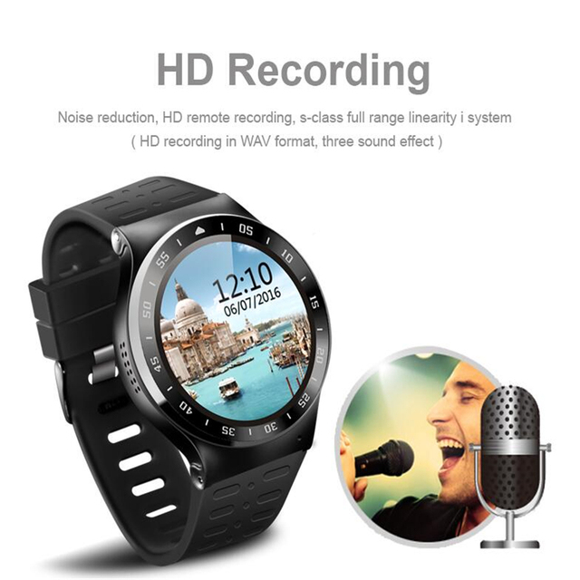 ZGPAX S99A MTK6580 Quad Core 3 Г Smart Watch Android 5.1 С 8 ГБ НОМЕР 5.0 МП Камера GPS WiFi Bluetooth V4.0 Шагомер Сердце скорость