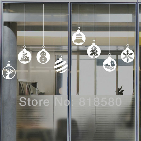 Free Shipping Home Decor Christmas Window Charm Vinyl Wall Art Stickers Wall Decals(100 x 175cm/piece)-in Wall Stickers from Home \u0026 Garden on Aliexpress.com ... & Free Shipping Home Decor Christmas Window Charm Vinyl Wall Art ...
