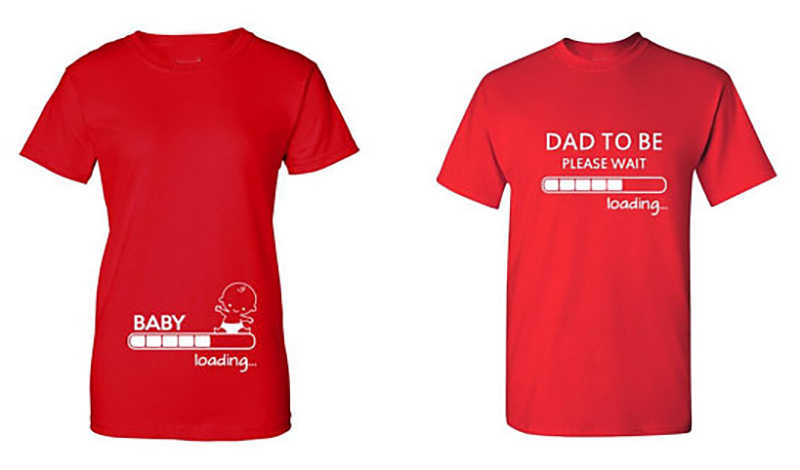 4928c31cbb8fa Couple T Shirt Couple Clothes Pure Cotton Pregnancy Baby Loading Dad To Be  Shirt Funny Valentine Gift for Dad TShirt Plus Size