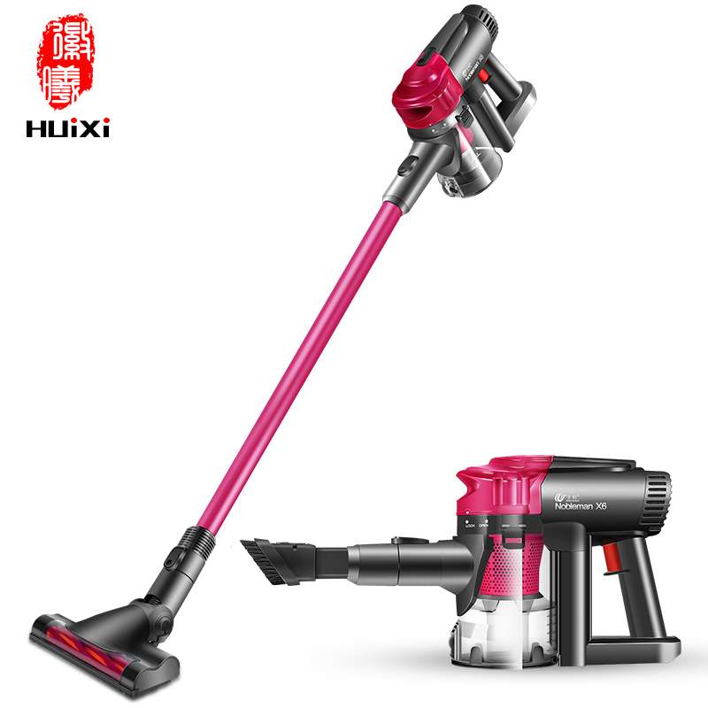 WanChuang High Efficiency High-power Handheld Wireless Dry Home car rechargeable Vacuum Cleaner Nobleman Cyclone dust collector
