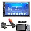 7018B 7 Pulgadas LCD HD Doble DIN Car En El Tablero de Pantalla Táctil Bluetooth Estéreo del coche Reproductor de Radio FM MP3 MP5 con Control Remoto Inalámbrico