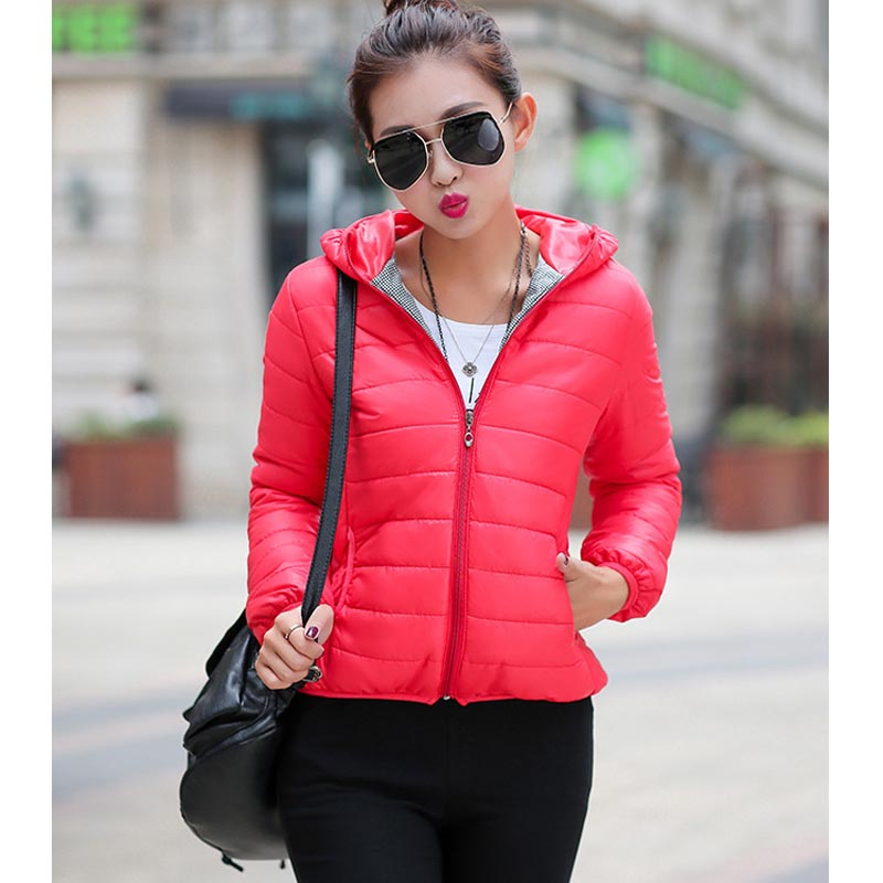 2016 New Short Parkas Female Women Winter Coat Thickening Cotton Winter Jacket Womens Outwear Parkas for