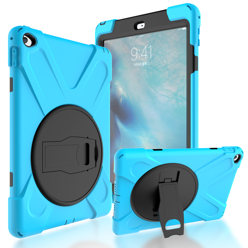 2018 Hot Kids Silicone Protector Case For Apple iPad Air 2 Heavy Duty Rugged Durable Hard kickstand Cover For iPad 6+stylus+film case for apple ipad pro plus 12 9 tablet heavy duty rugged impact hybrid case kickstand protective cover for ipad pro 12 9