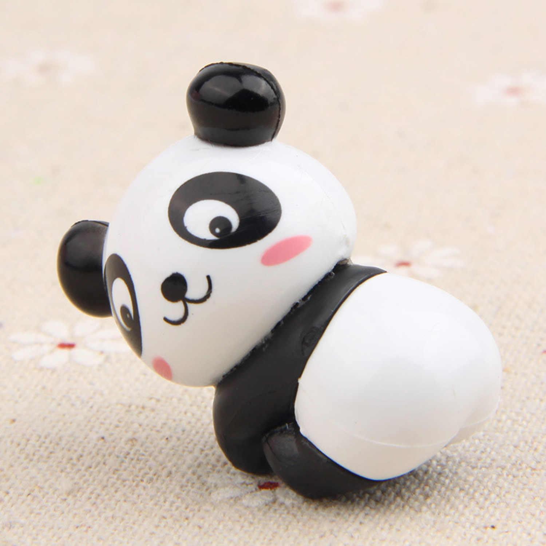 8 pcs Mini Panda Bonito Brinquedos Figuras de Coco Do Bolo para DIY Micro Paisagem Fada Do Jardim Bonsai Decorações Do Bolo de Aniversário Decoração