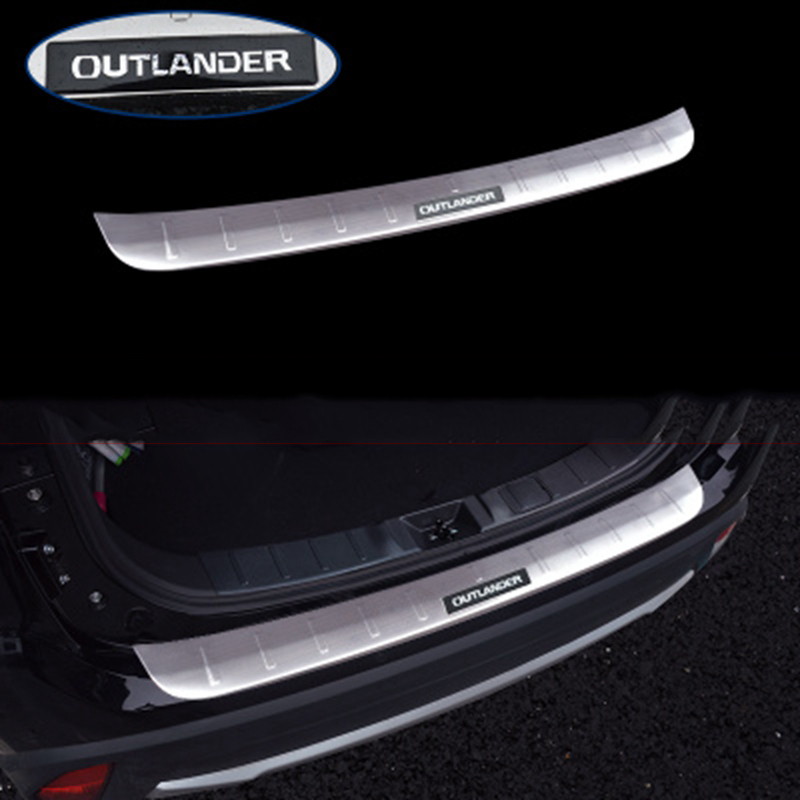 For Mitsubishi Outlander 2013 2014 2015 2016 2017 Stainless Steel Exterior Internal Rear Bumper Protector Cover Sills Mouldings