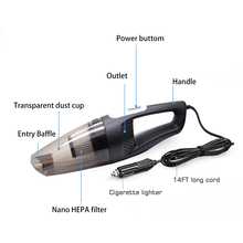 Multifunctional Car Vacuum Cleaner Handheld Wet Dry Dual-use Portable 120W Suction Vehicle Vacuum Cleaner Home Dust Cleaning