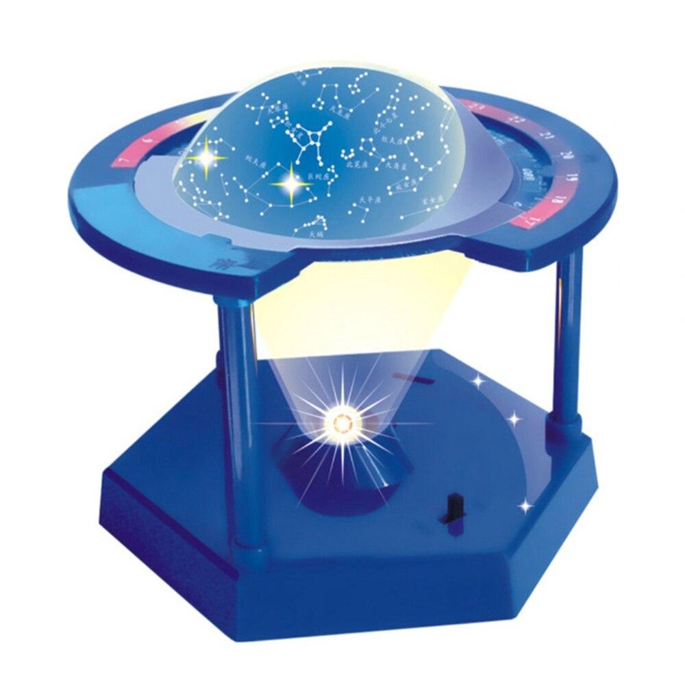 Proyector de constelaciones eléctricas para niños, juguete educativo de tecnología de cielo estrellado, Luz, Planeta, universo, ciencia