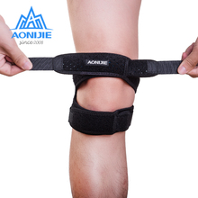 AONIJIE 1PCS Adjustable Sports Training Elastic Knee Support Brace Kneepad  Patella Pads Hole Safety