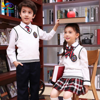 England Kindergarten Students Uniforms Class Service Garden Clothes Spring Sports Suit Boys And Girls Wool Vest