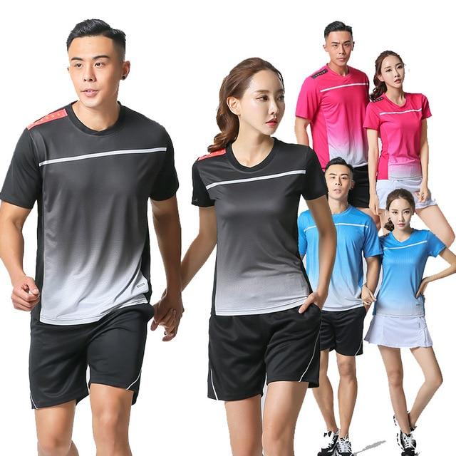 2018 Fresh Color Men / Women Shirt Tennis Shorts , Quick Dry Badminton Set , Girl Table Sets , Girls tshirts table tennis Suits