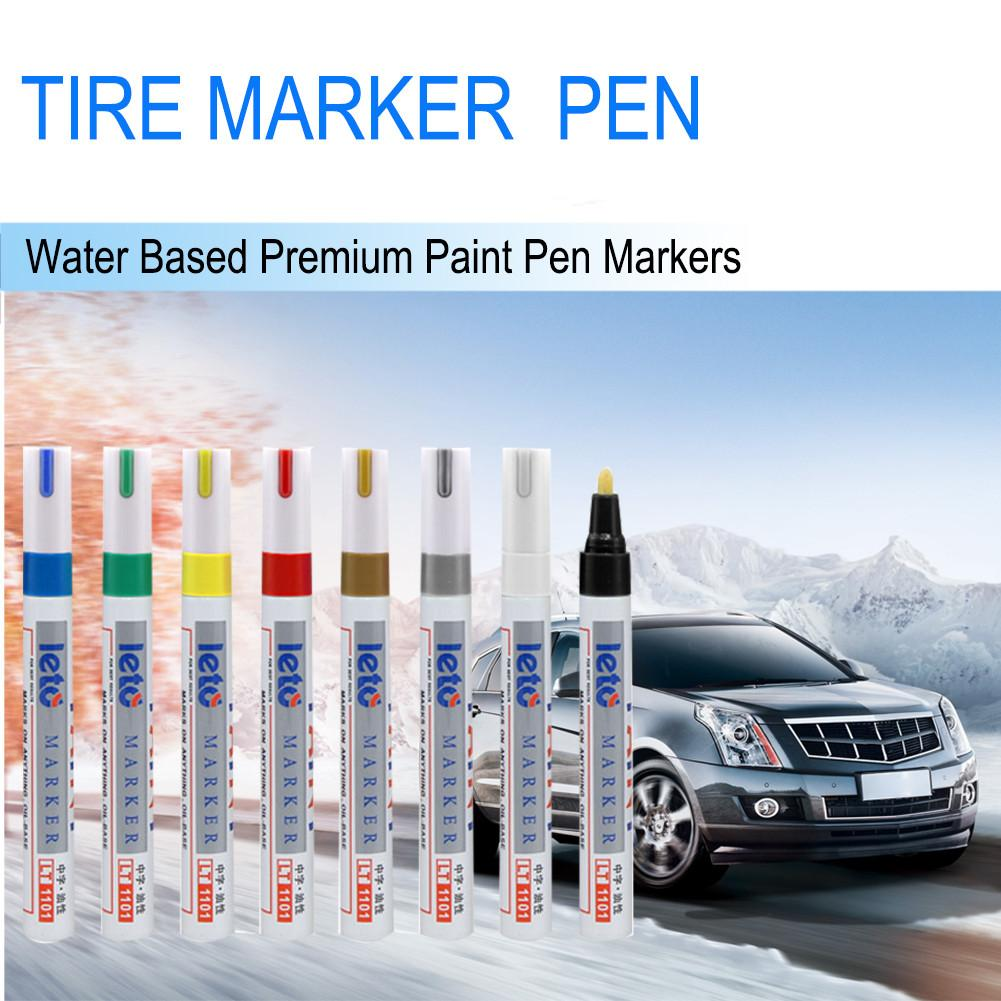 Image 5 - LT1101 White Tyre Paint Marker Pens Waterproof Permanent Pen Fit For Car Motorcycle Tyre Tread Rubber Metal-in Painting Pens from Automobiles & Motorcycles