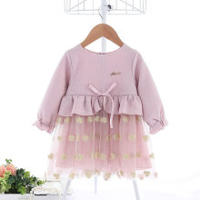 Girl Clothes 2019 New IDEA Autumn Flowers Embroidery Kids Dresses For Baby Girls Party Wedding Dress Children Princess Dress(China)