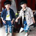 New fashion winter style children button trench kids anti wind and casual sports coats child kids down jacket for baby boys
