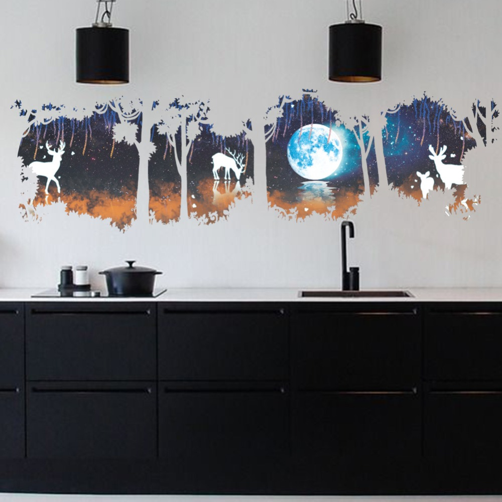 Night Forest Vinyl Wall Sticker 17
