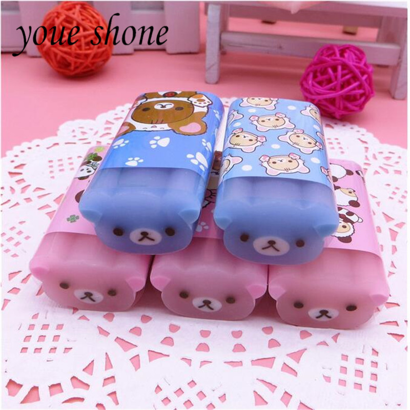 1PCS Cartoon Animal Mini Cute Eraser 2B Eraser For Kid Rubber For Pencil Cutable Student Supplies