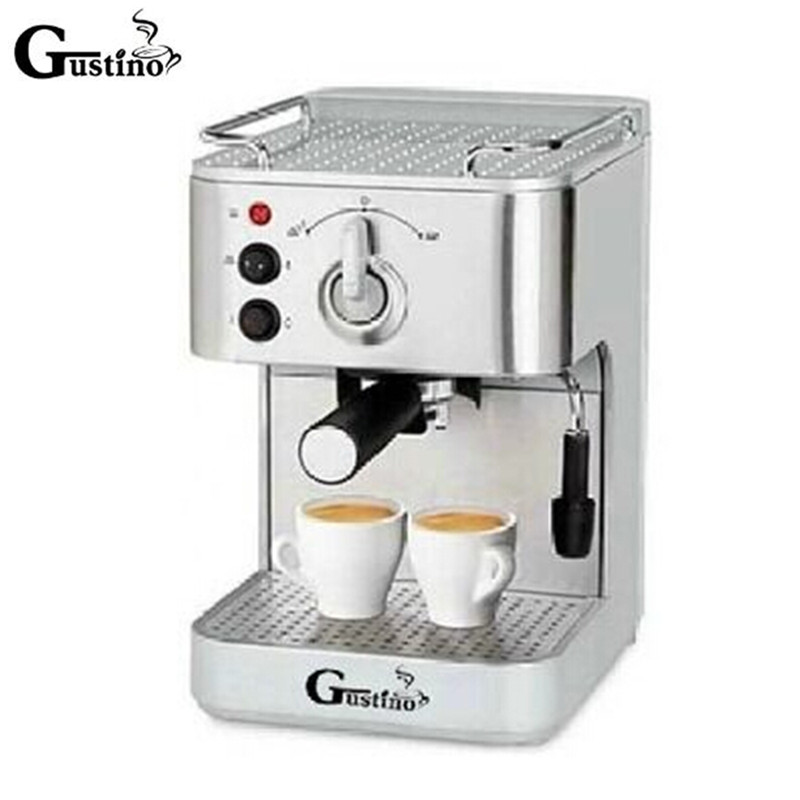 Gustino 19Bar Semi Automatic Coffee Maker Espresso Machine with Froth Milk Stainless Steel 304 Housing for Home or Office Using machine