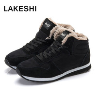 Men Boots Warm Winter Snow Boots 2016 Fashion Plush Ankle Boots Snow Winter Shoes Black Blue