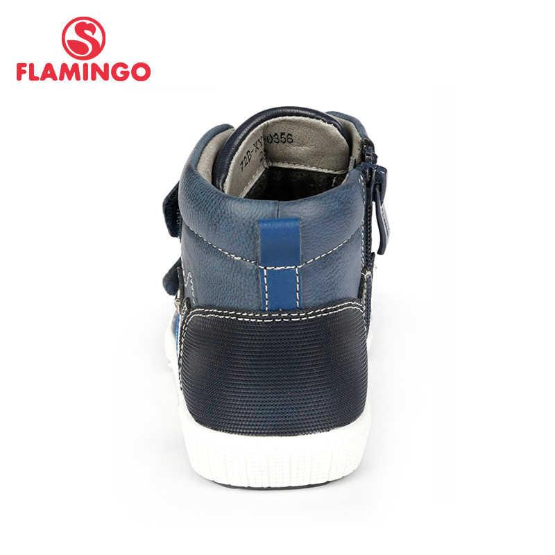 Flamenco otoño cálido parche moda niños botas alta calidad antideslizante niños zapatos para niño tamaño 25-30 envío Gratis 72B-XY-0356