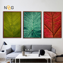 NOOG Modern Leaf Vein Pattern Poster Print Tropical Plant Leaves Canvas Painting For Nordic Living Room Art Wall Decoration