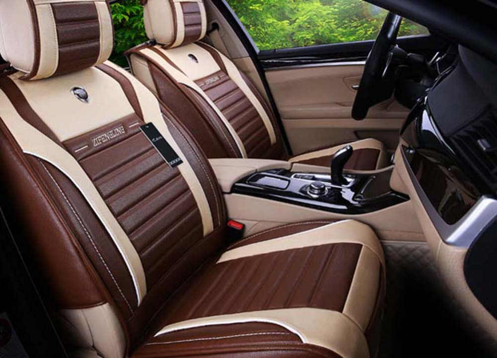 buy new four seasons luxury leather universal car seat cover sport car seat. Black Bedroom Furniture Sets. Home Design Ideas