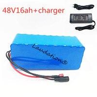 Laudation 48 В 16Ah батарейный блок 18650 перезаряжаемый аккумулятор с 2A зарядным устройством встроенный 15A BMS Электрический велосипед
