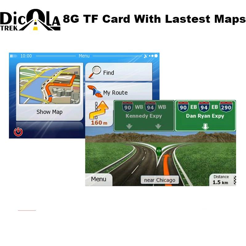 GPS ניווט אנדרואיד Wince Windows CE 6.0/אנדרואיד OS GPS ניווט אביזרי 8 gb מיקרו TF כרטיס מפת GPS אבזרים