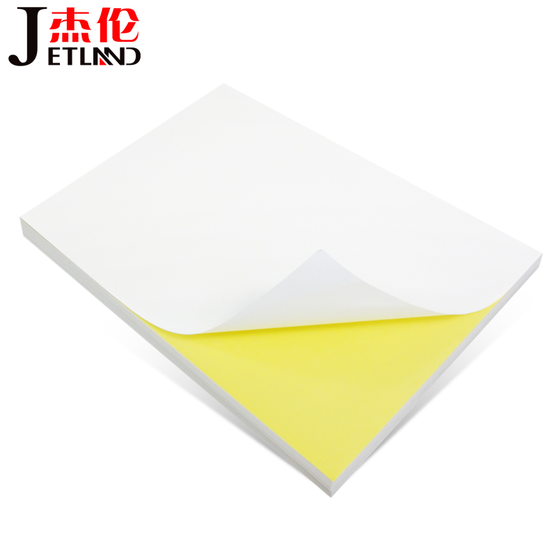 A4 Whole 100 Sheet Label Glossy / Matte Self-adhesive Label Sticker For Laser / Inkjet Printer 100 Sheets Per Pack