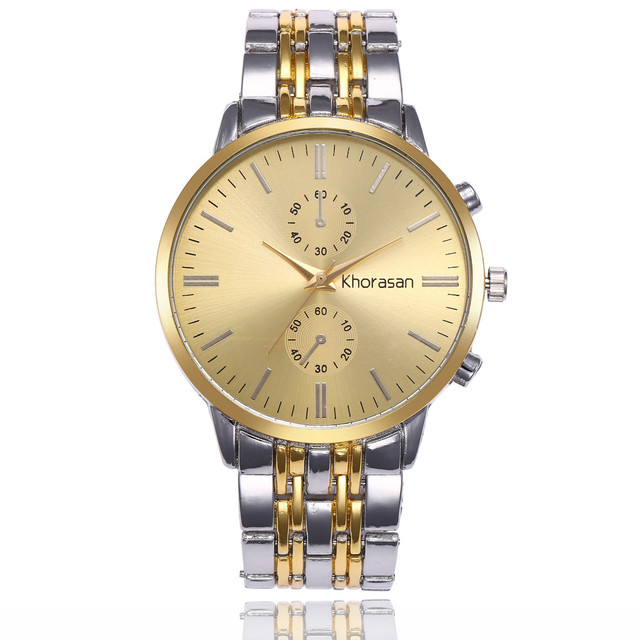 ISHOWTIENDA Luxury Gold Watch Fashion Stainless Steel band Watches For Men's Qua